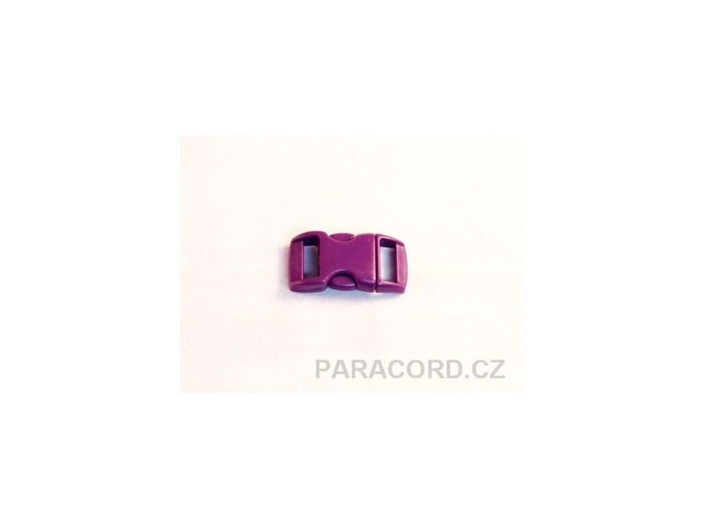 spona trojzubec - fialová (10mm)