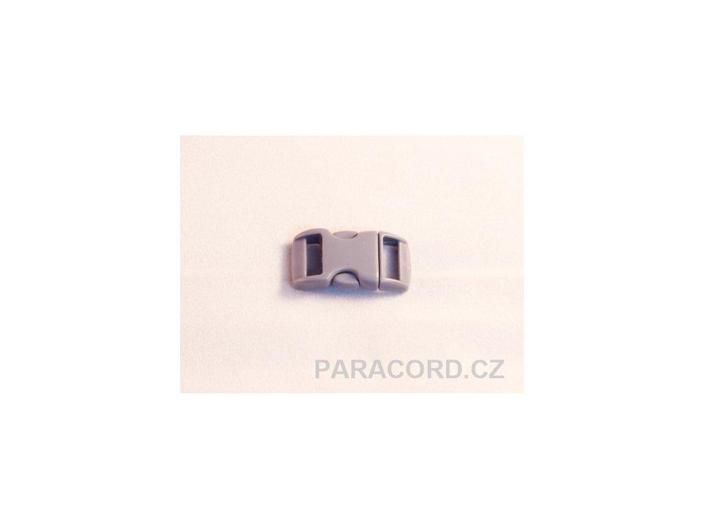 spona trojzubec - šedá (10mm)