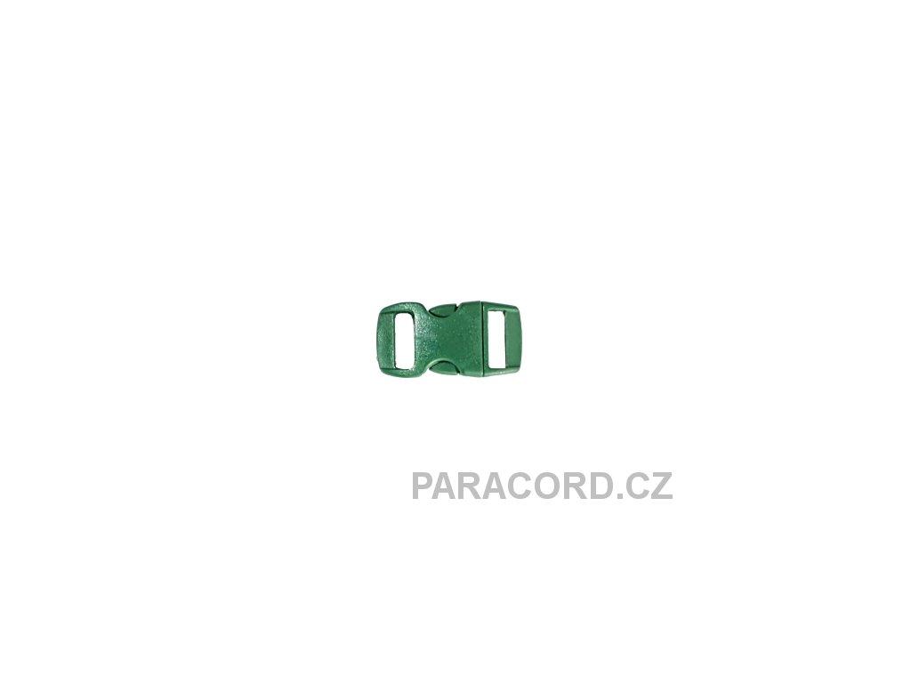 spona trojzubec - tmavě zelená (10mm)