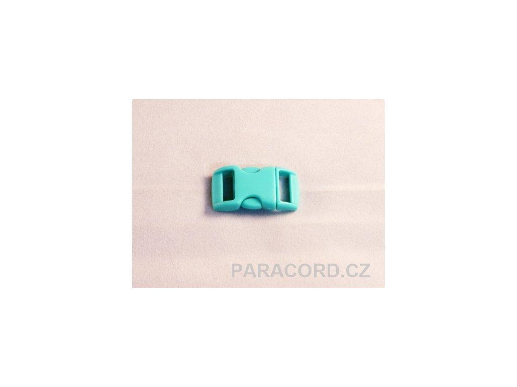 spona trojzubec - tyrkysová (10mm)