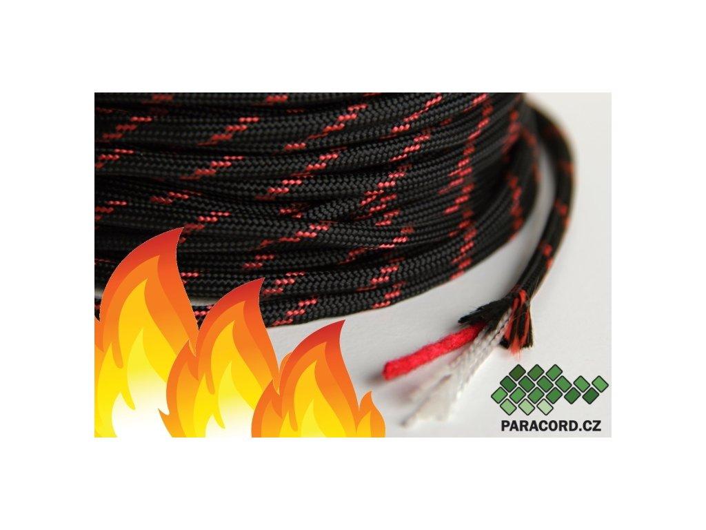 FIRE CORD - černá/červená
