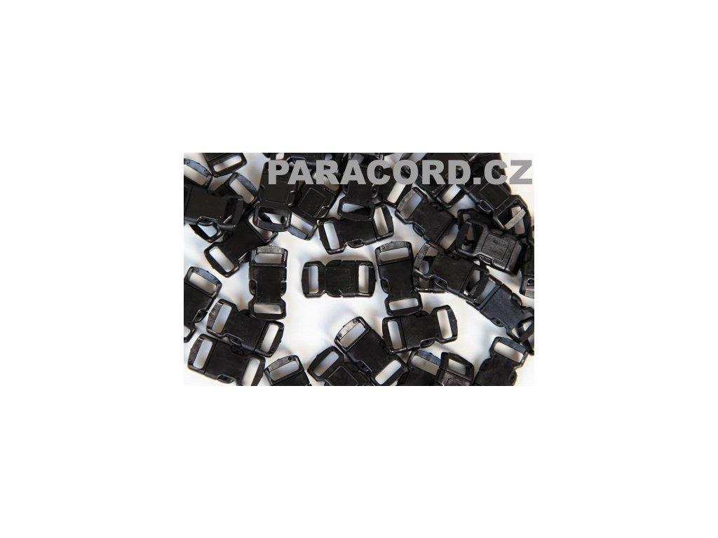 100ks spona trojzubec - černá (10mm)