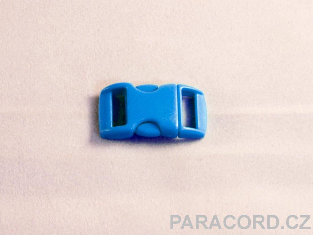 spona trojzubec - neon modrá (10mm)