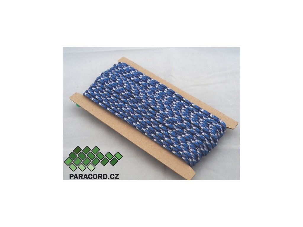 Paracord 550 - karta 25m BLUE CAMO
