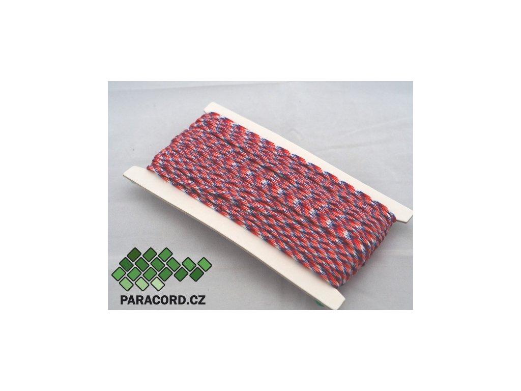 Paracord 550 - karta 25m TRIKOLÓRA CZ