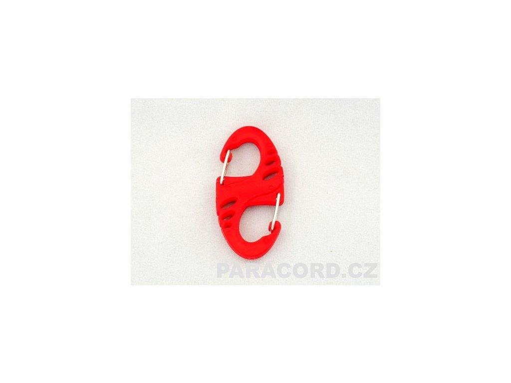 Karabina oboustranná S-BINER - červená