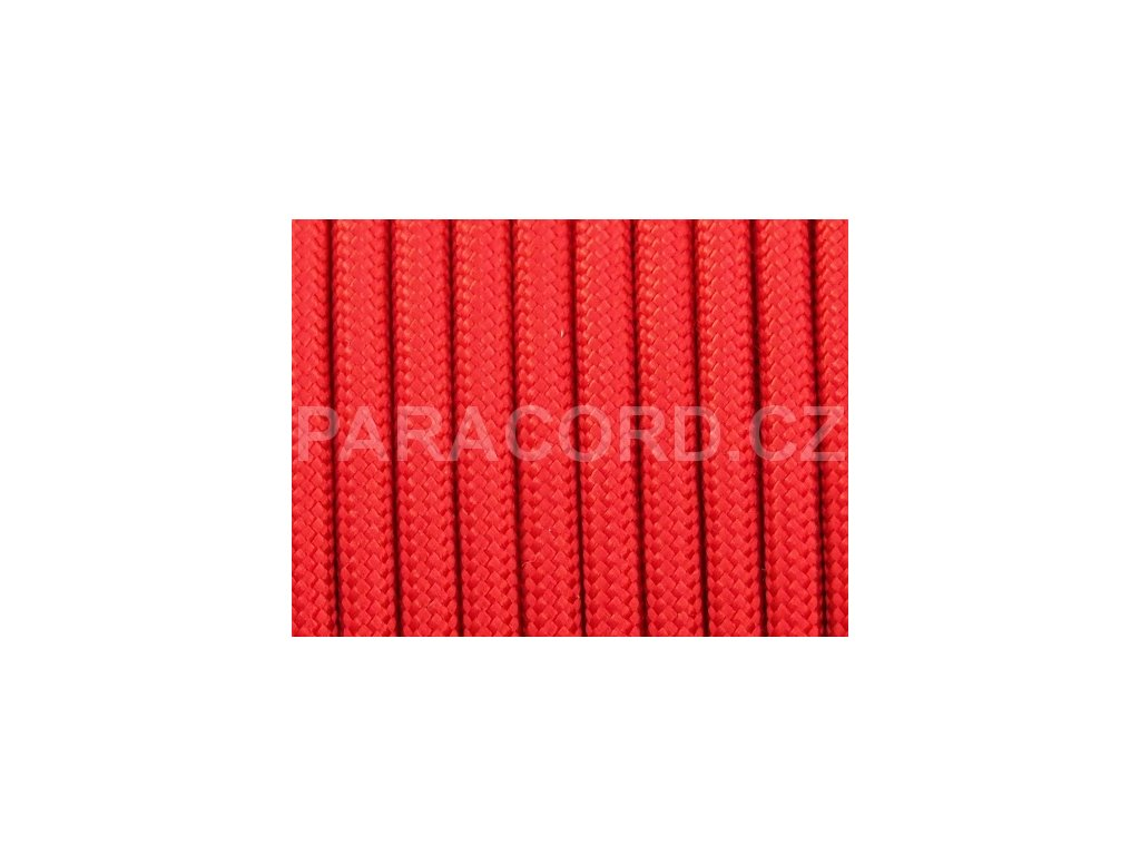 TYP IV. Paracord 750 - červená