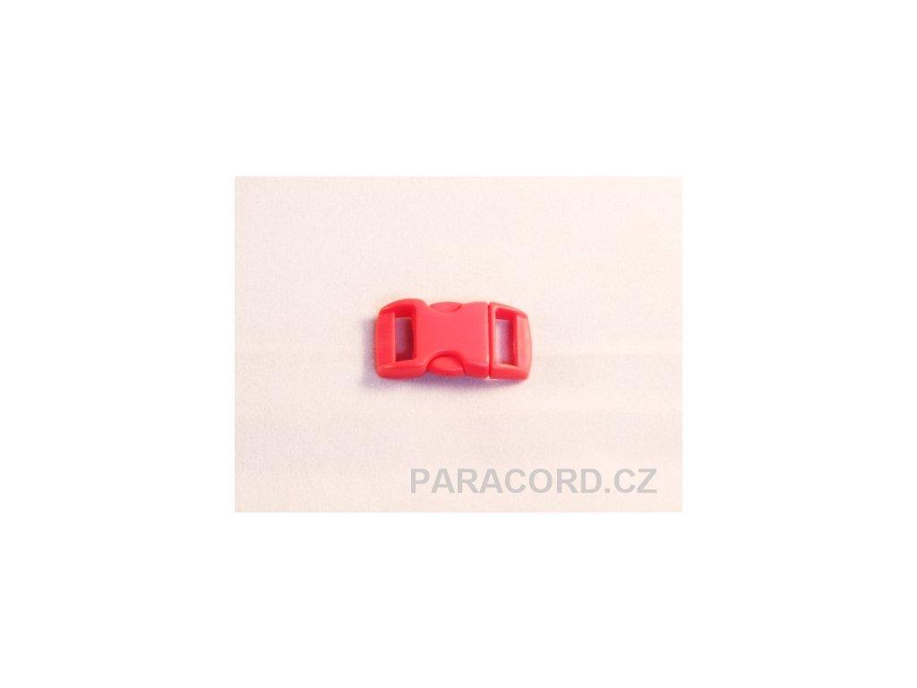 spona trojzubec - sytě červená (10mm)