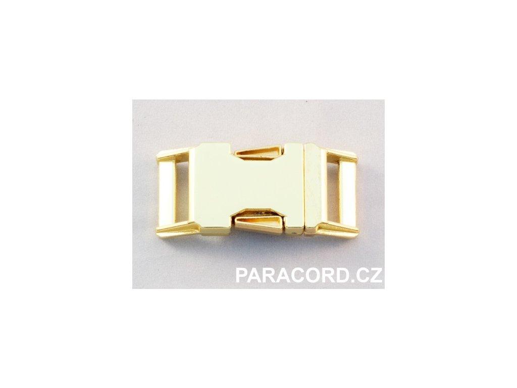 Spona trojzubec - kovová (20mm) - zlatá barva