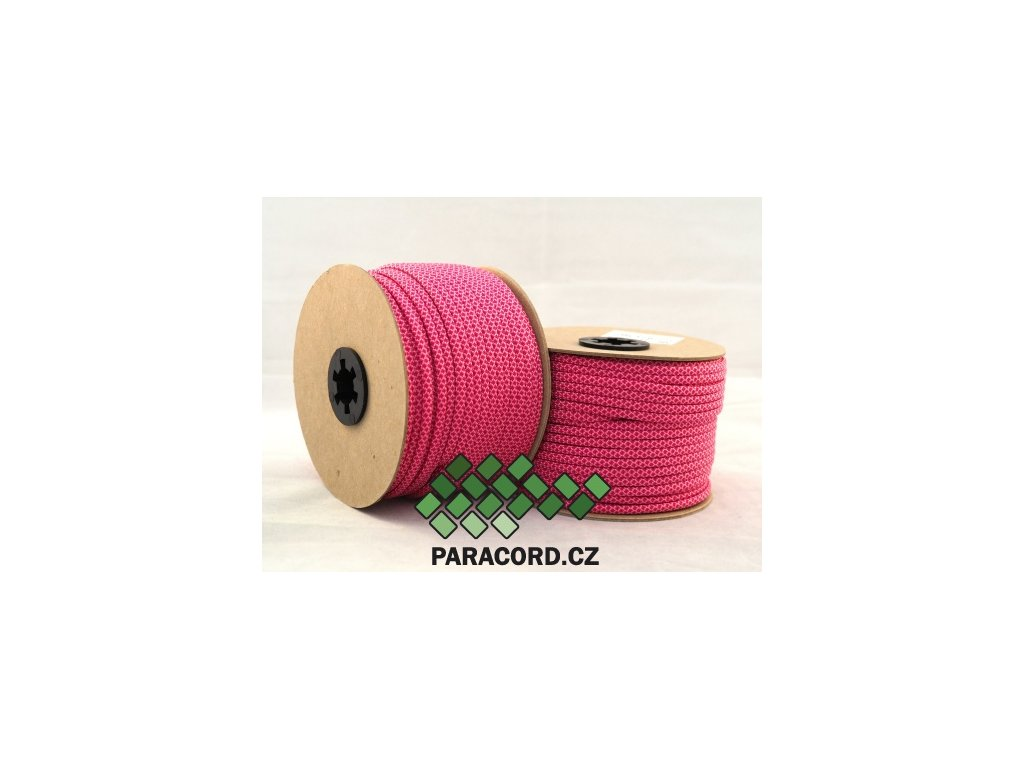 Paracord 550 - špulka 50m PINK DIAMONDS