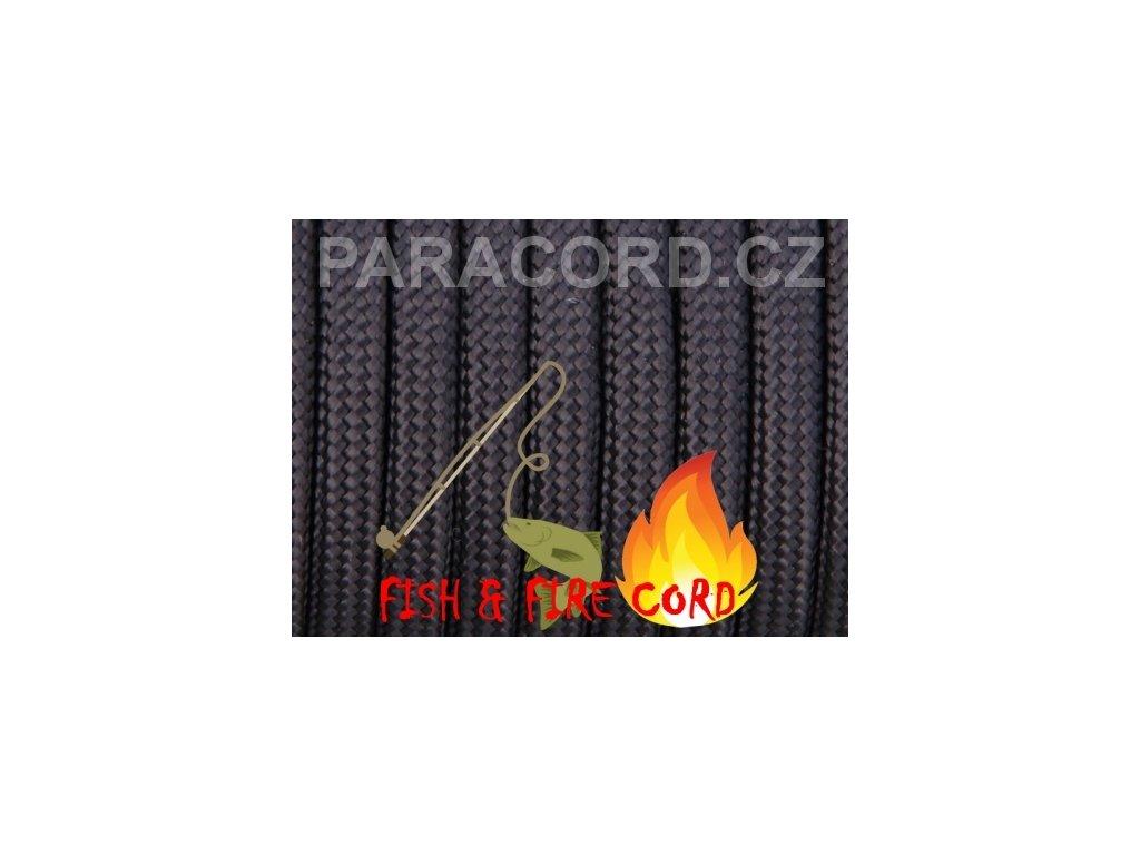 FISH & FIRE CORD - černá