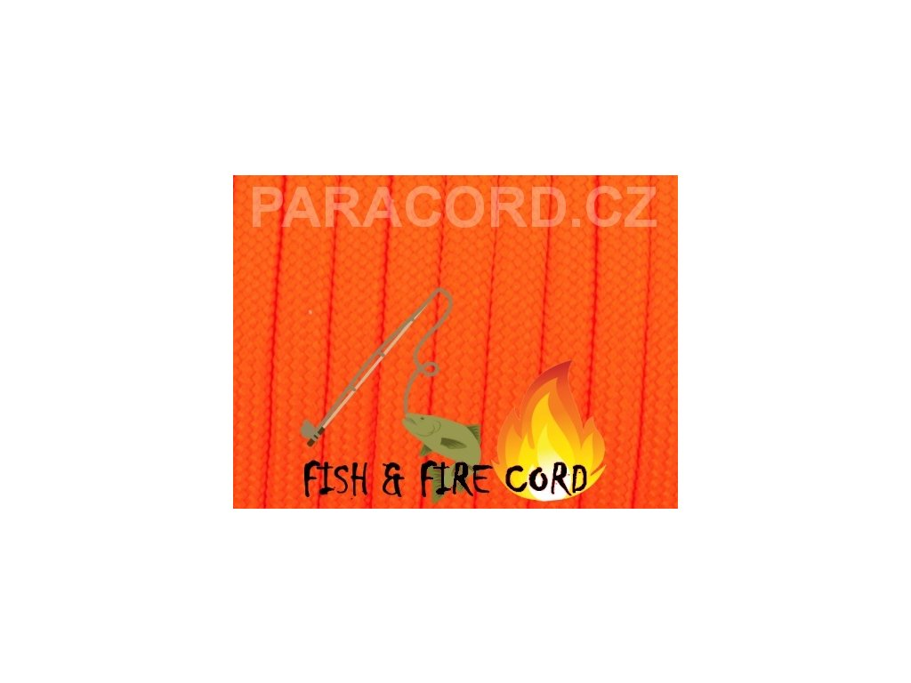 FISH & FIRE CORD - neon oranžová