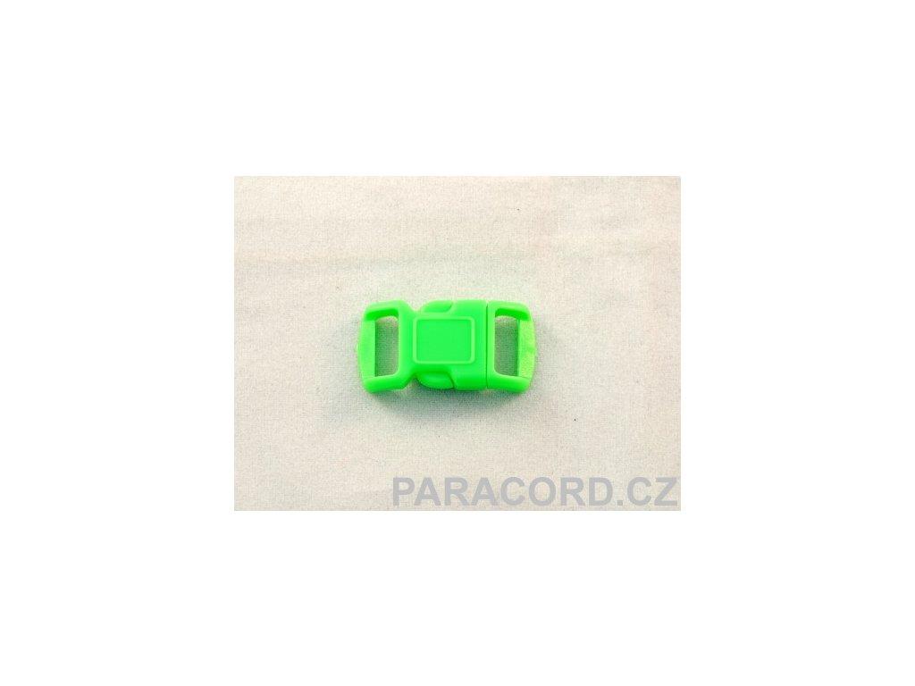 spona trojzubec - neon zelená (10mm)