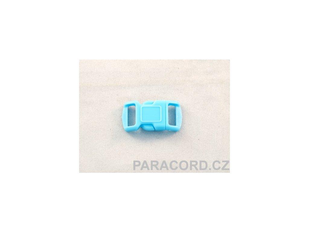 spona trojzubec - bledě modrá (10mm)