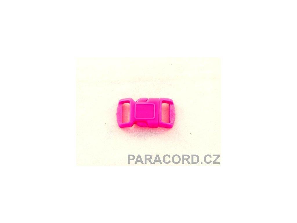 spona trojzubec - neon růžová (10mm)