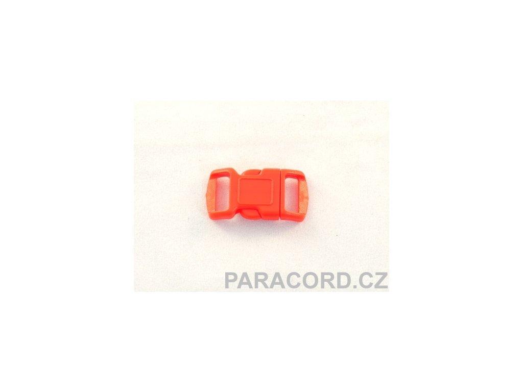 spona trojzubec - červená (10mm)
