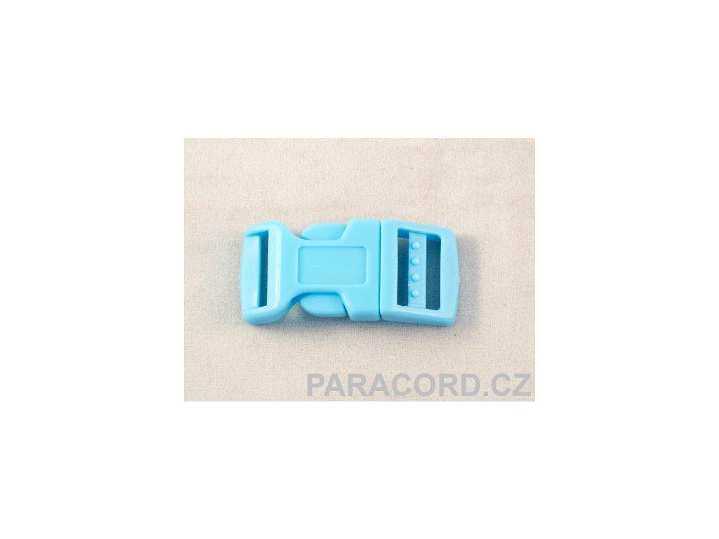 spona trojzubec - bledě modrá (16mm)