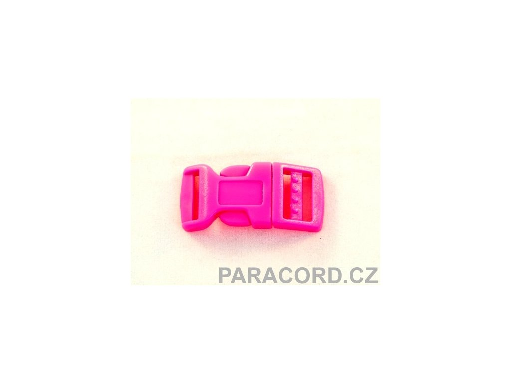 spona trojzubec - neon růžová (16mm)