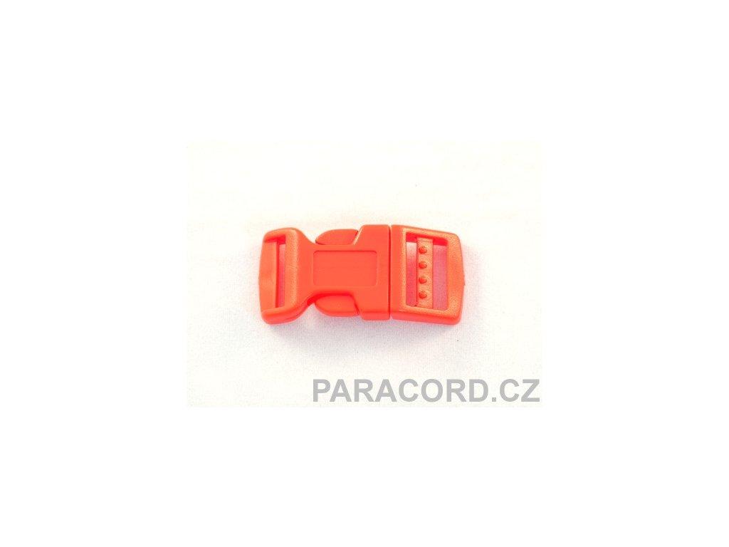 spona trojzubec - červená (16mm)