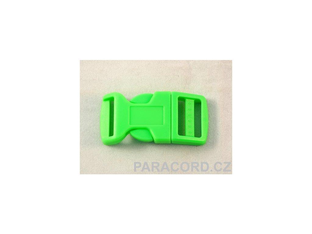 spona trojzubec - neon zelená (20mm)