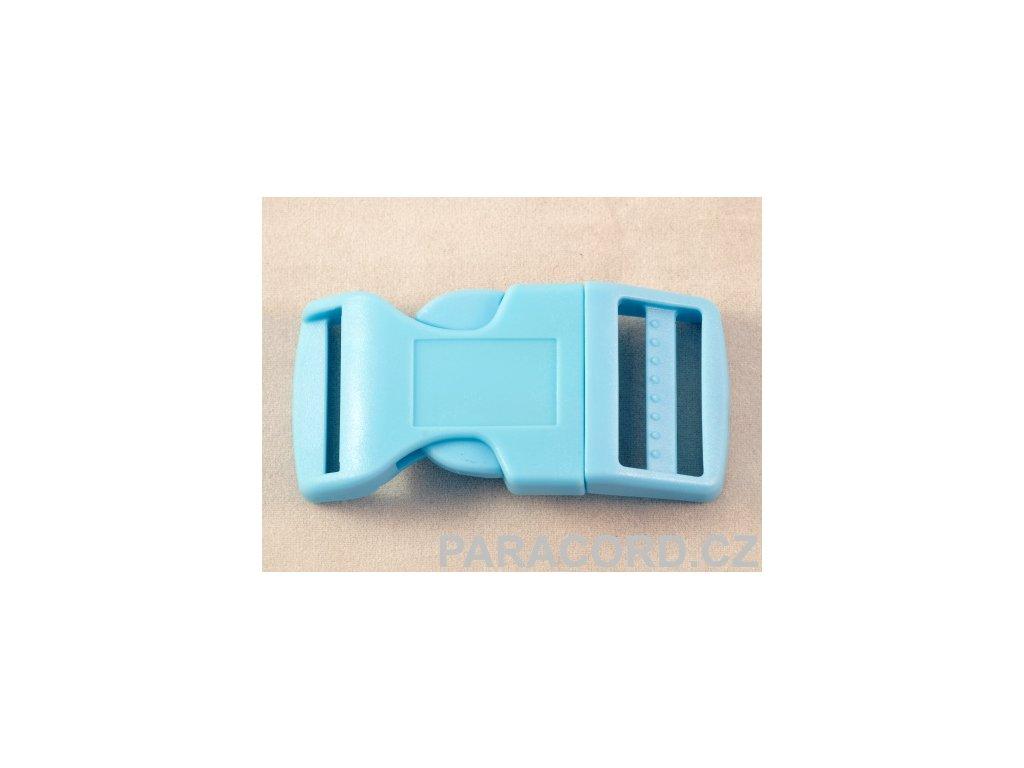 spona trojzubec - bledě modrá (25mm)