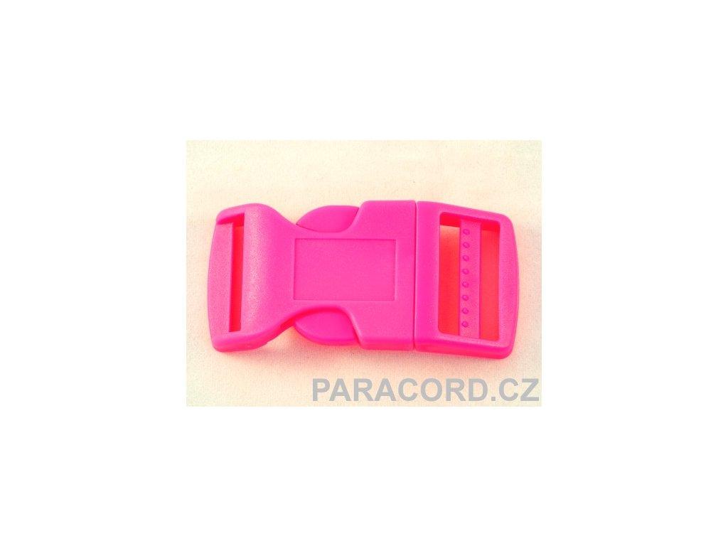 spona trojzubec - neon růžová (25mm)