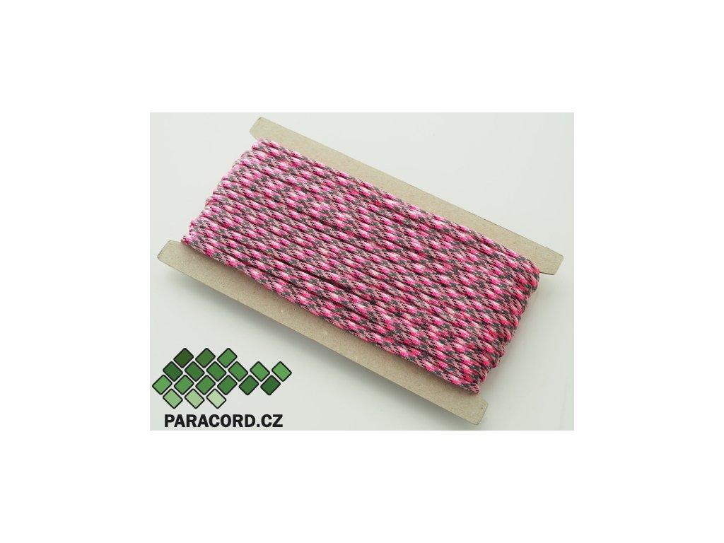 Paracord 550 - karta 25m PINK CAMO