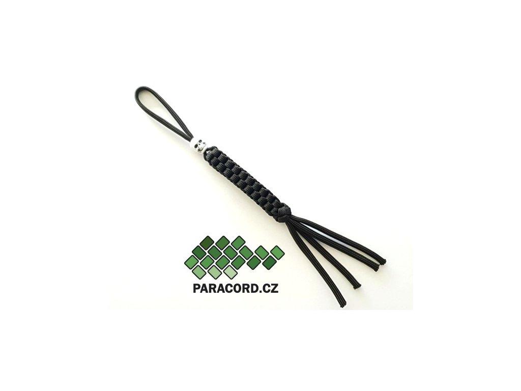 Paracord přívěšek na nůž BLACK