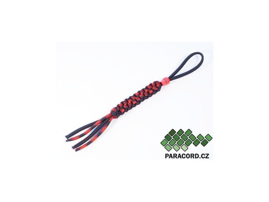 Paracord přívěšek na nůž RED