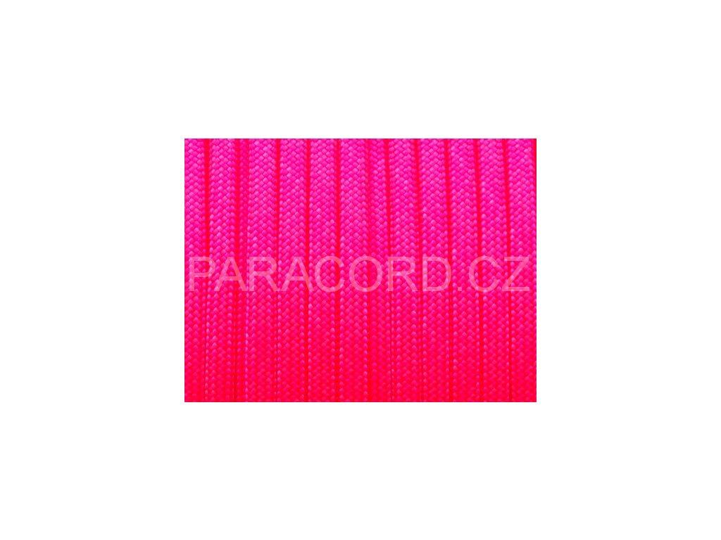 Paracord 550 - ultraneon růžová