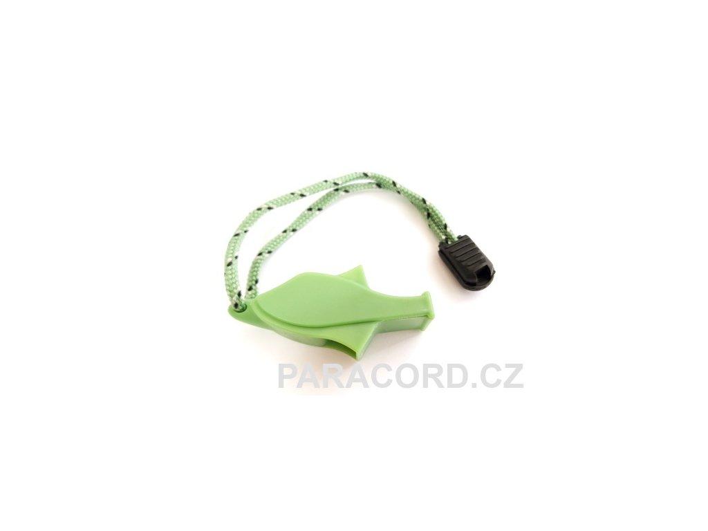 Nouzová píšťalka rybka - zelená