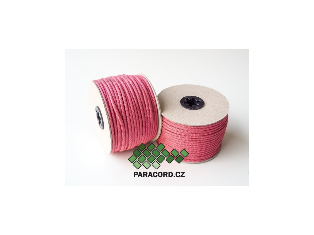 Paracord 550 - špulka 50m NEON PINK DIAMONDS