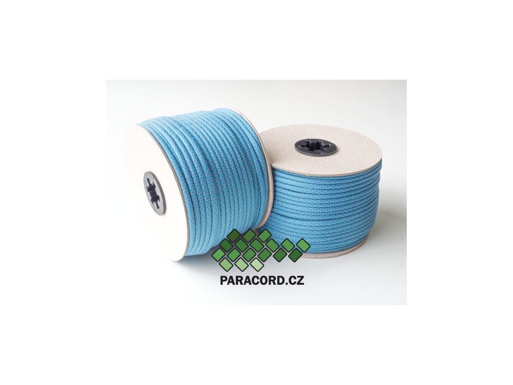 Paracord 550 - špulka 50m NEON BLUE DIAMONDS