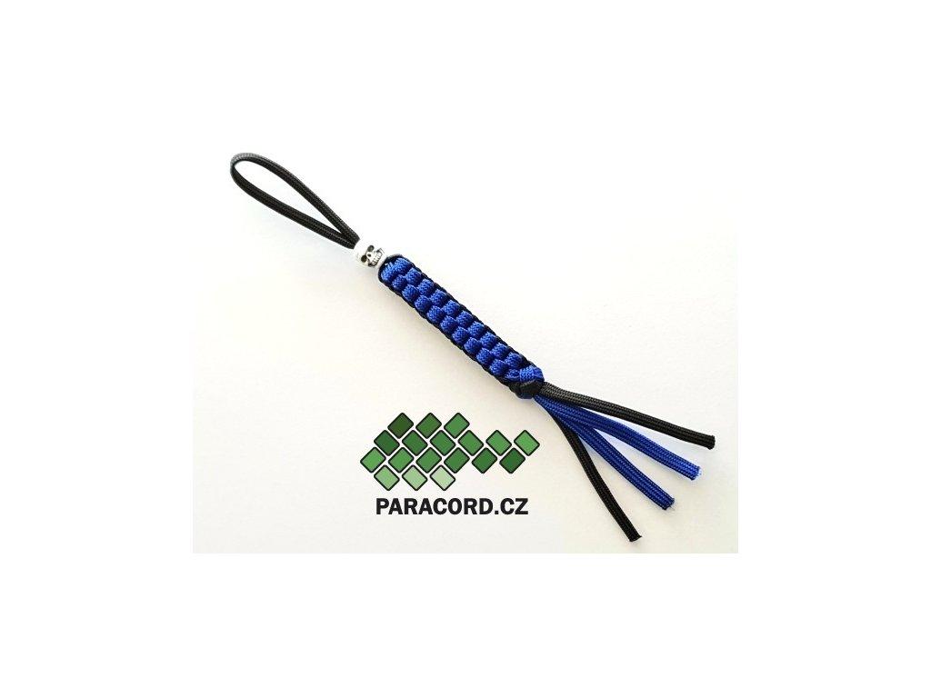 Paracord přívěšek na nůž modrá/černá