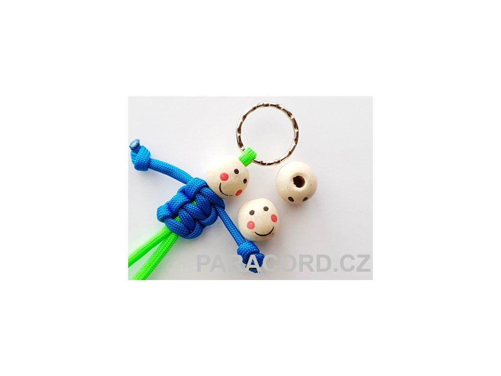 Kulička (korálek) dřevěná - panáček