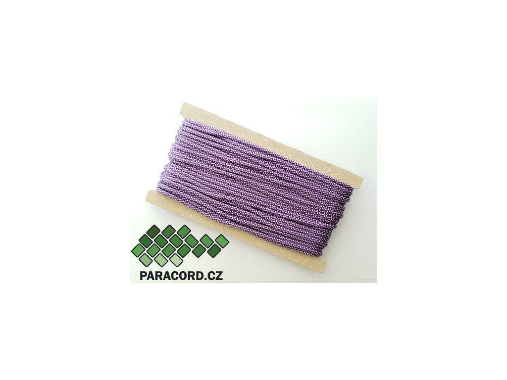 Paracord 550 - karta 25m PURPLE/SILVER DIAMONDS