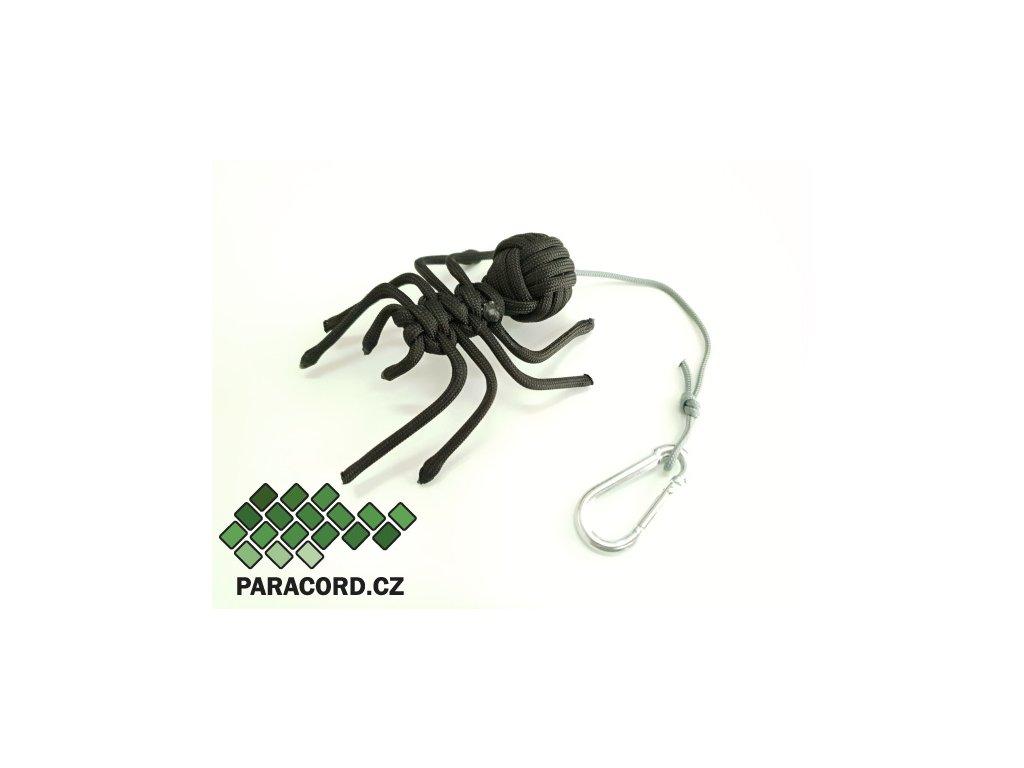 Paracord přívěšek PAVOUK (černá/šedá)