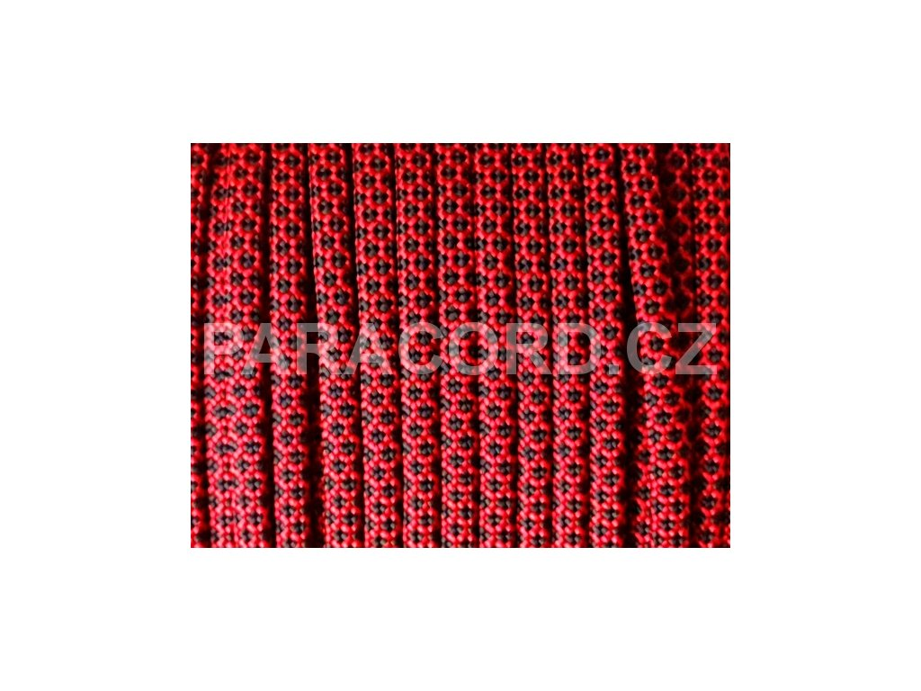 Paracord 550 - RED DIAMONDS REVERSED