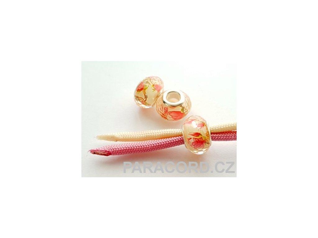 Korálek broušený - růže