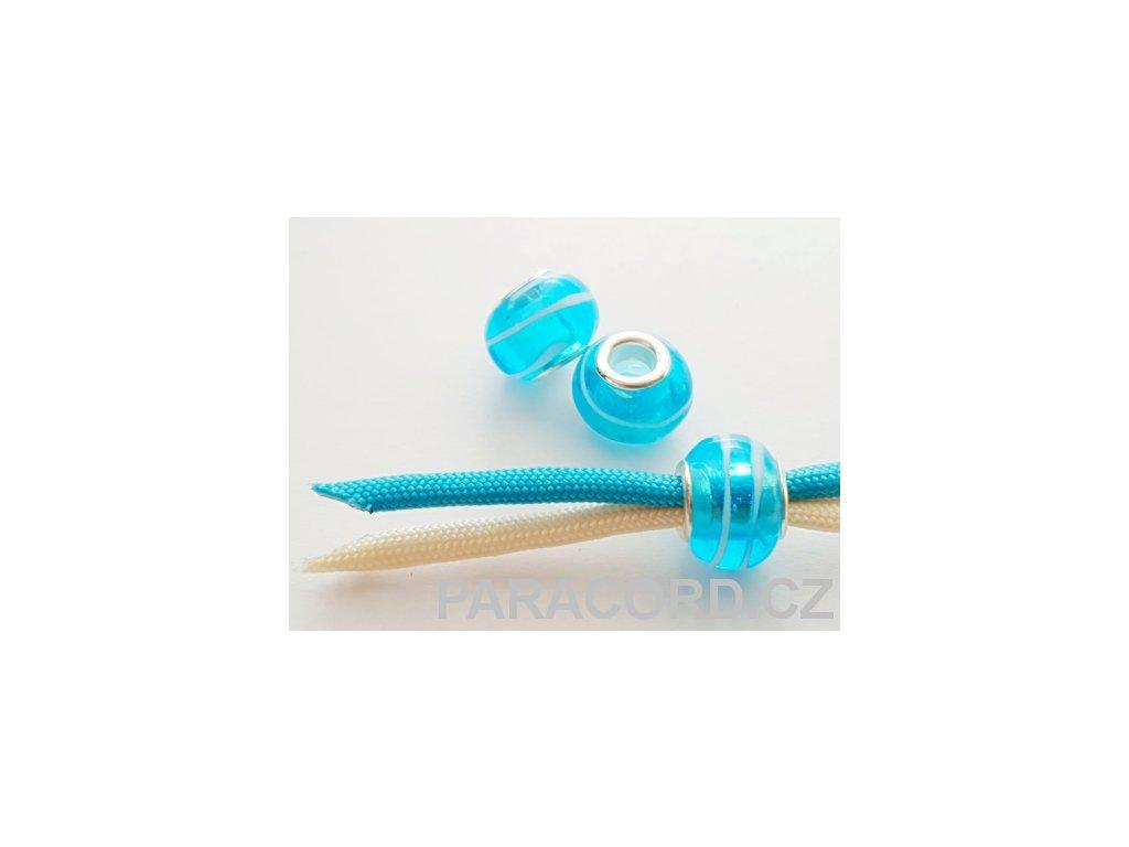 Korálek skleněný - modrý