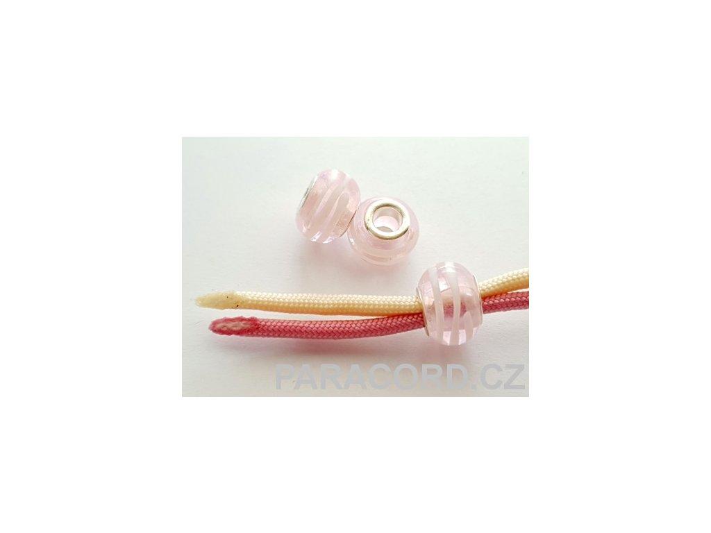Korálek skleněný - růžový