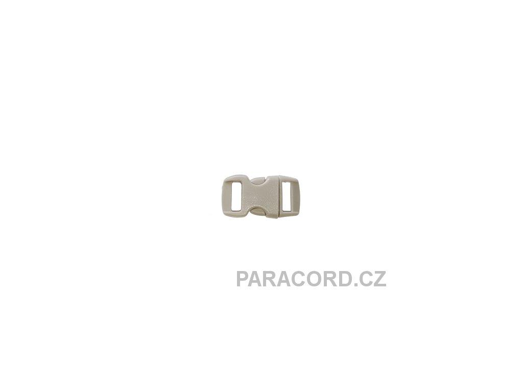 spona trojzubec - světle šedá (10mm)