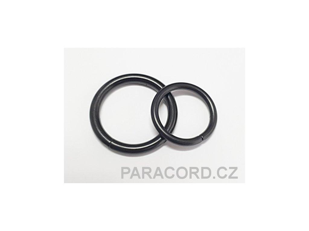 Sedlářský kroužek (25mm) černěný