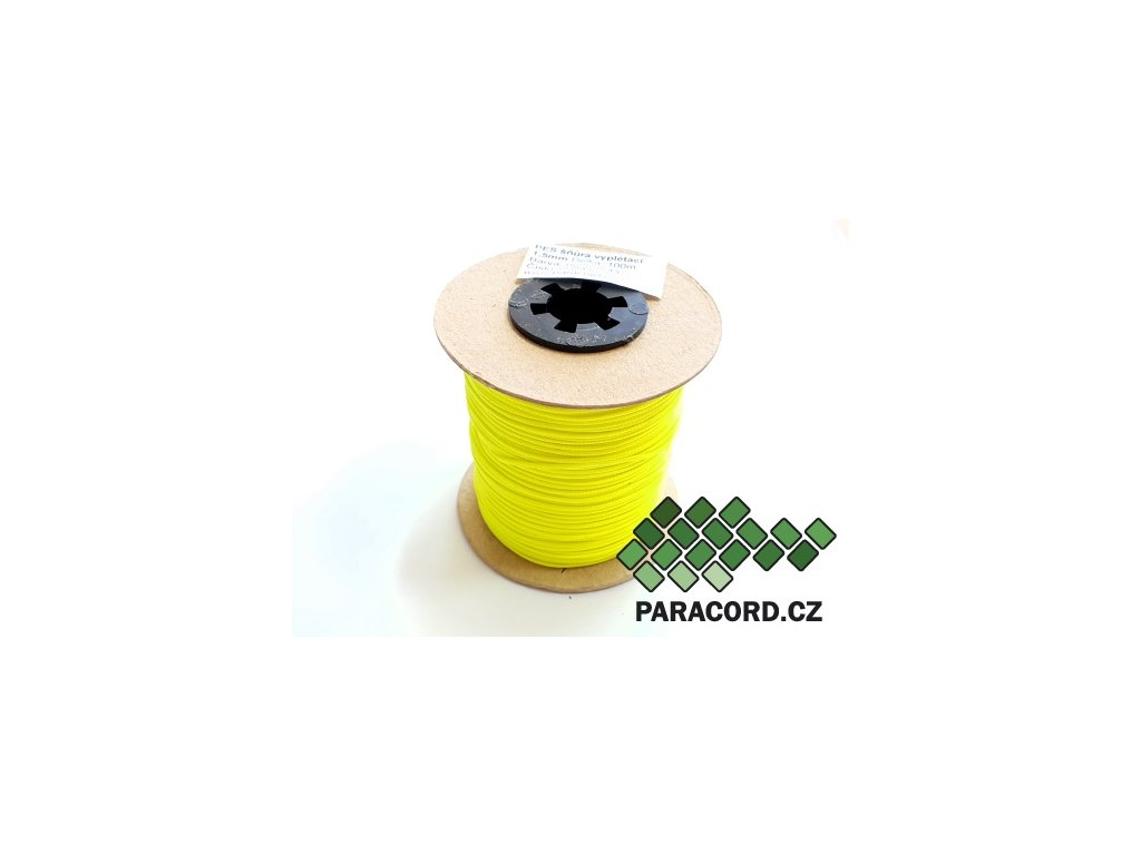 PES šňůra vyplétací 1,5mm (100m) - neon žlutá