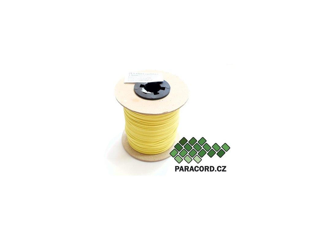 PES šňůra vyplétací 1,5mm (100m) - žlutá