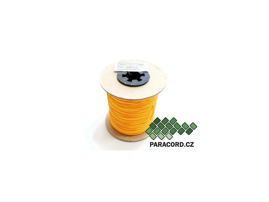 PES šňůra vyplétací 1,5mm (100m) - pomerančová