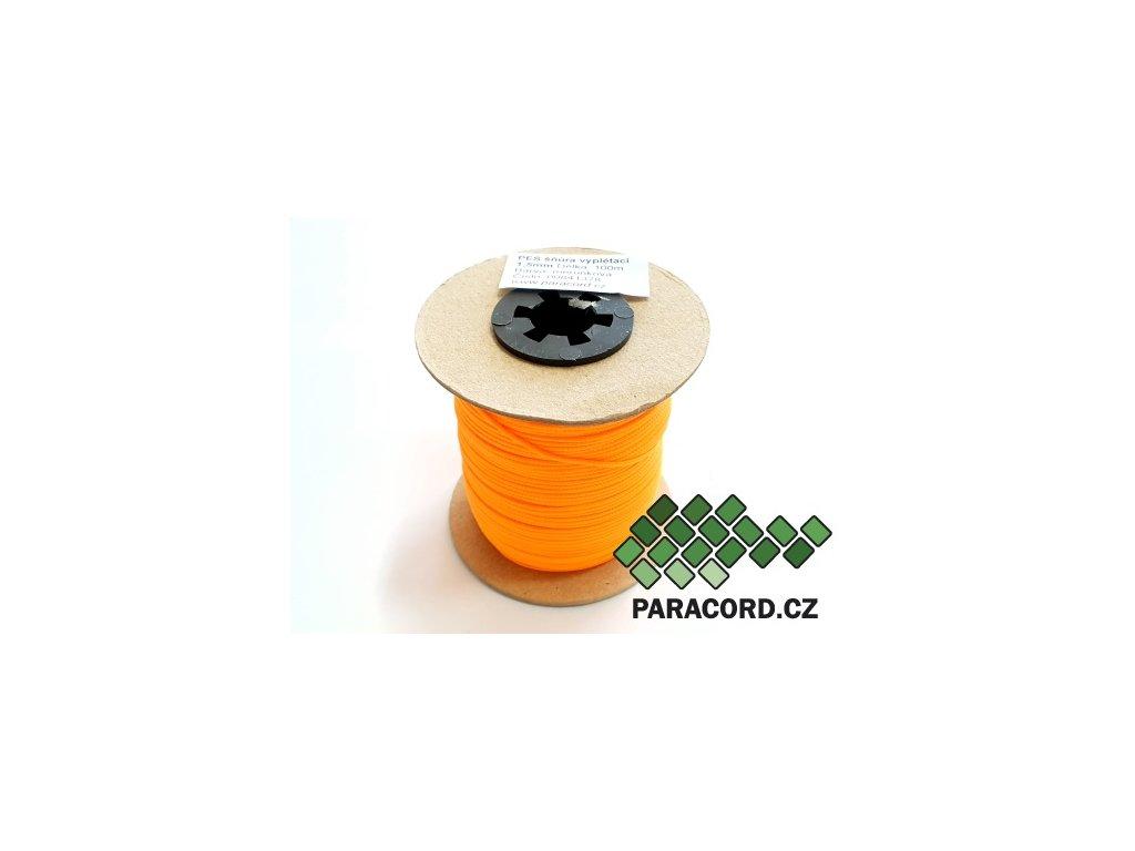PES šňůra vyplétací 1,5mm (100m) - meruňková