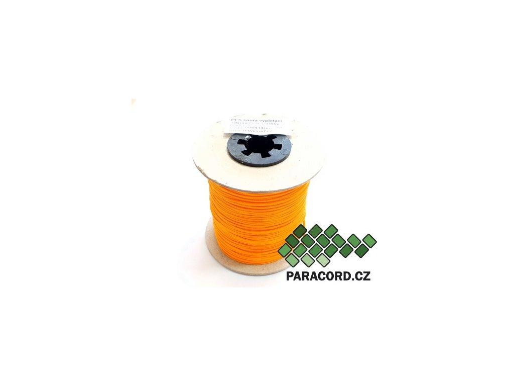 PES šňůra vyplétací 1,5mm (100m) - mandarinková