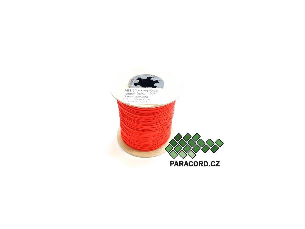 PES šňůra vyplétací 1,5mm (100m) - červená