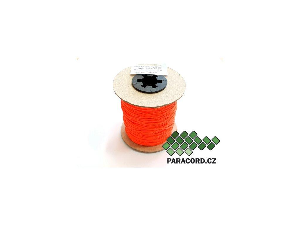 PES šňůra vyplétací 1,5mm (100m) - neon červená